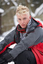 Free Teenage Boy Wearing Winter Clothes Royalty Free Stock Image - 14188756