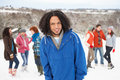 Free Young Friends Having Fun In Snow Stock Photo - 14188830