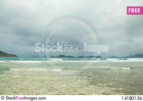 Free Scenic Stormy Water Royalty Free Stock Image - 14180156