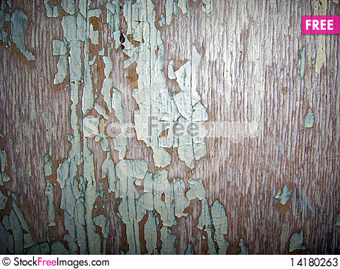 Free The Peeled Paint On A Wooden Surface Stock Photos - 14180263