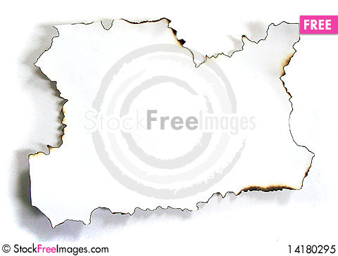 Free The Scorched Paper Royalty Free Stock Photo - 14180295