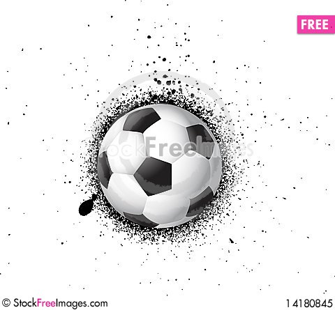 Free Grunge Soccer Football Royalty Free Stock Photo - 14180845