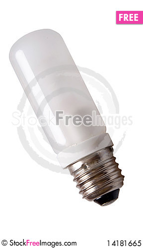 Free Lamp Bulb Isolated On White Royalty Free Stock Photo - 14181665