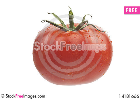 Free Juciy Tomato With Drops Royalty Free Stock Image - 14181666