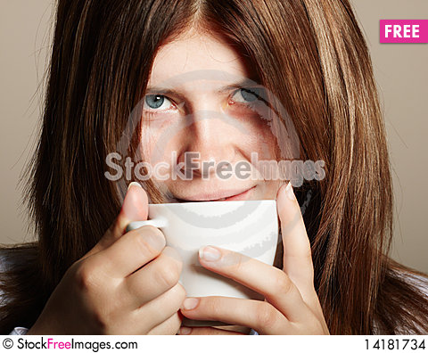 Free Girl With Coffee Stock Images - 14181734