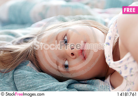 Free Beautiful Little Girl In The Morning Stock Image - 14181761