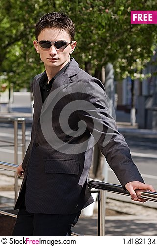 Free Young Man In Jacket And Sunglasses Stock Images - 14182134