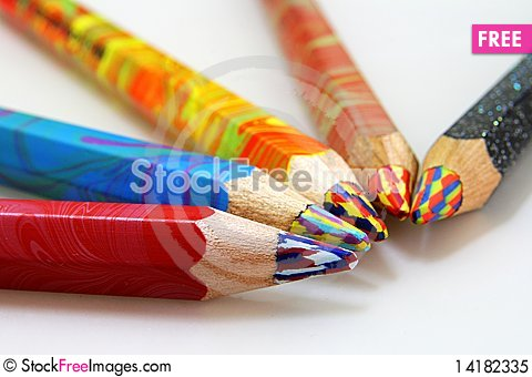 Free Color Pencils Royalty Free Stock Photo - 14182335