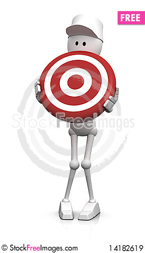 Free On Target Royalty Free Stock Images - 14182619