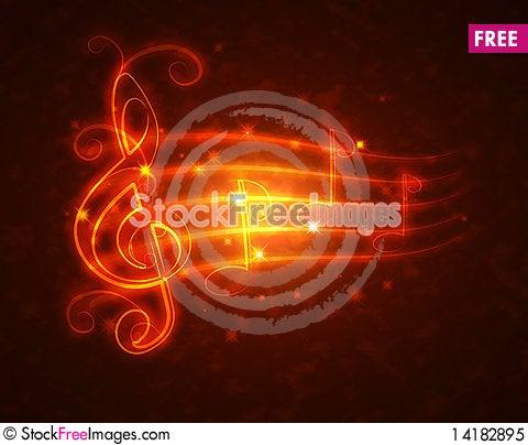 Free Burning Musical Symbols Royalty Free Stock Photo - 14182895
