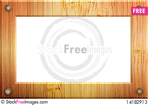 Free Illustrated Wood Frame. Stock Photos - 14182913