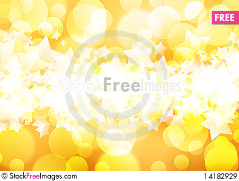 Free Golden Background Of The Bright Lights Royalty Free Stock Images - 14182929