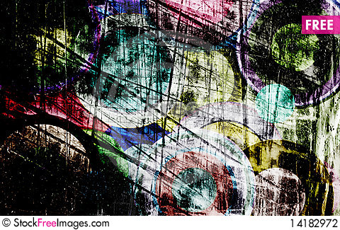 Free Grunge Circles On The Wall Stock Photography - 14182972