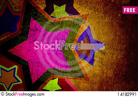 Free Star Grunge On The Paper Stock Image - 14182991