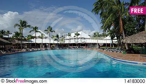 Free A Pool Is In A Quiet Hotel Stock Photo - 14183000