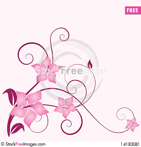 Free Abstract Floral Background Stock Image - 14183081