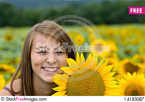 Free A Happy Young Lady. Royalty Free Stock Photography - 14183087
