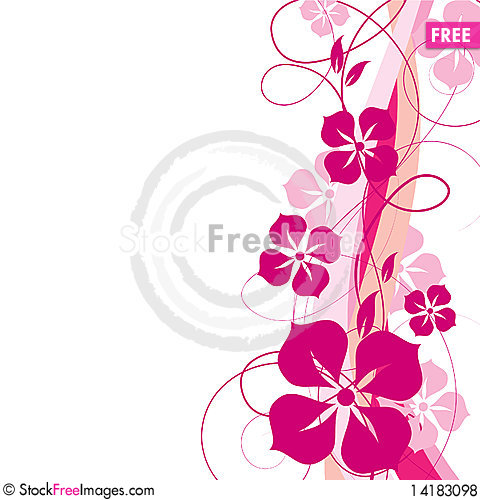 Free Abstract Floral Background Royalty Free Stock Photos - 14183098