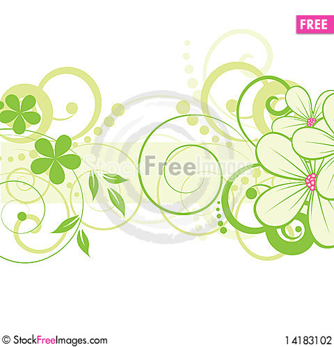Free Abstract Floral Background Stock Photography - 14183102