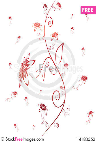 Free Abstract Floral Background Stock Photography - 14183552