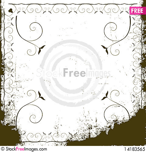 Free Beautiful Floral Frame Royalty Free Stock Photo - 14183565