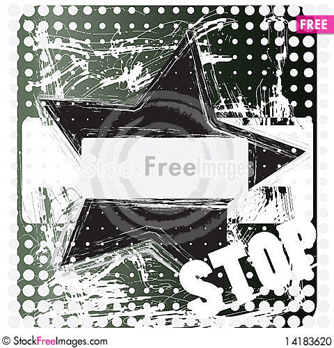 Free Grunge Star Stock Photo - 14183620