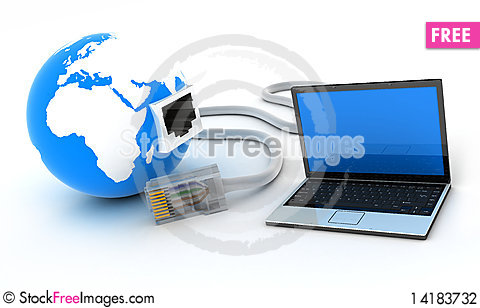 Free Laptop Connection Stock Photography - 14183732