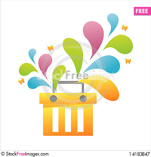 Free Colorful Basket Royalty Free Stock Photography - 14183847