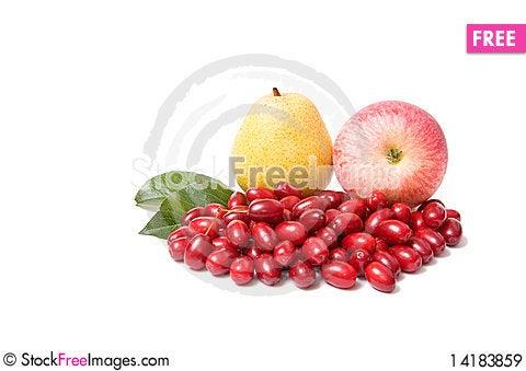 Free Ripe,fresh Autumn Fruits On A White. Royalty Free Stock Images - 14183859