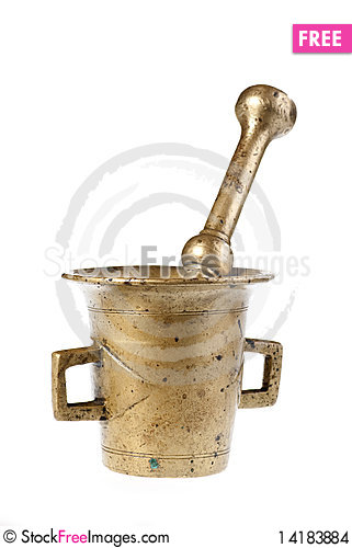 Free Old Mortar And Pestle Stock Images - 14183884