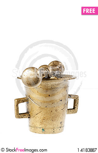 Free Old Mortar And Pestle Royalty Free Stock Photography - 14183887