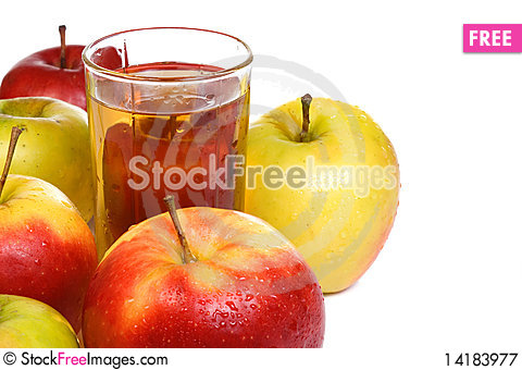Free Glass Full Of Juice Royalty Free Stock Photography - 14183977