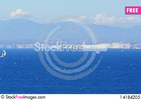 Free Straits Of Bonifacio And Corsica Royalty Free Stock Photo - 14184205