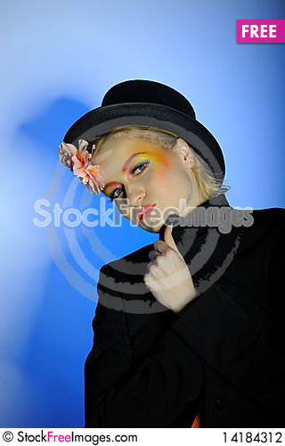 Free Elegant Fashion Woman With Creative Eye Make-up Stock Photography - 14184312