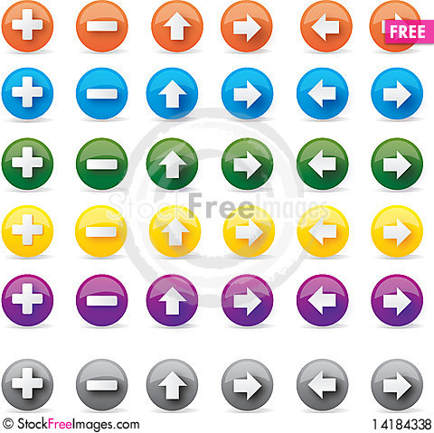 Free Internet Buttons Royalty Free Stock Photos - 14184338