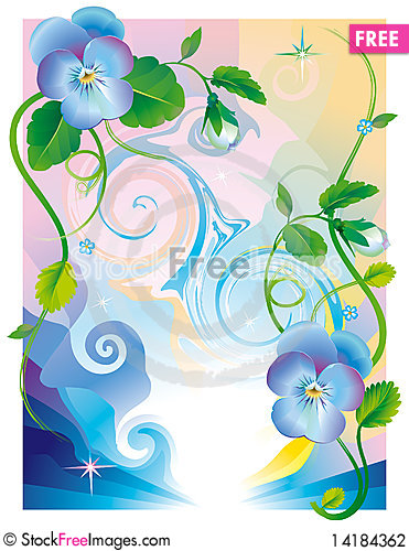Free Fantasy_pansy_flowers_blue Stock Photography - 14184362