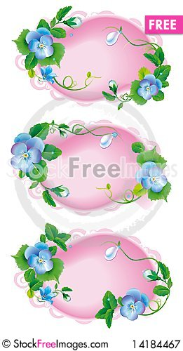 Free Vignette_label_pansy_garden_flowers Royalty Free Stock Photography - 14184467