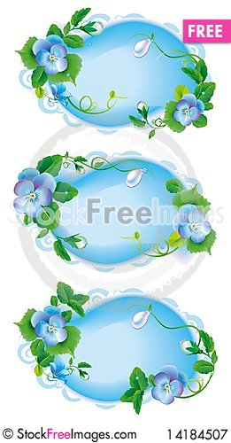 Free Vignette_label_pansy_garden_flowers Royalty Free Stock Photography - 14184507