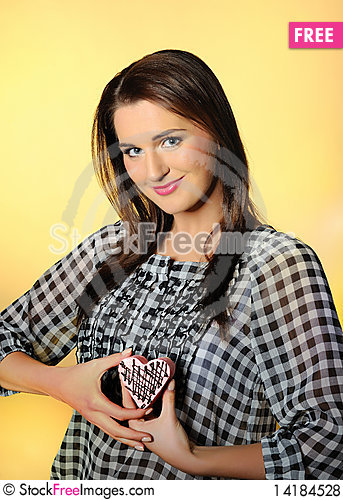 Free Young Beautiful Girl Eating Small Sweet Cake Royalty Free Stock Photos - 14184528