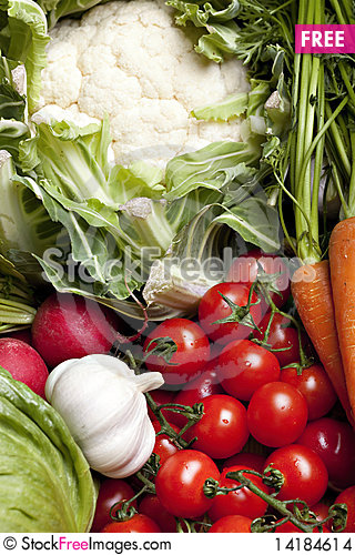 Free Set Of Different Vegetables Stock Images - 14184614