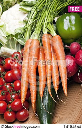 Free Set Of Different Vegetables Royalty Free Stock Photo - 14184665