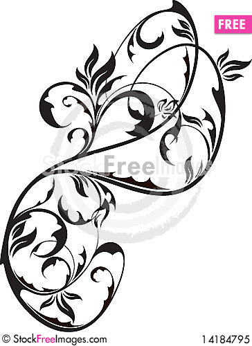 Free Floral Element For Design Royalty Free Stock Photo - 14184795