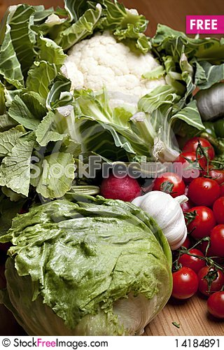 Free Set Of Different Vegetables Stock Image - 14184891
