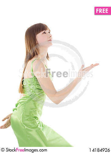 Free Blond Throw Something From Her Hands Royalty Free Stock Image - 14184926