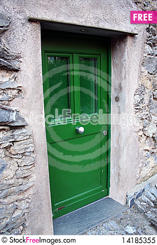 Free Green Door Royalty Free Stock Photo - 14185355