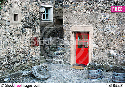Free Small Stone Village With Coloured Doors, Italy Stock Image - 14185401