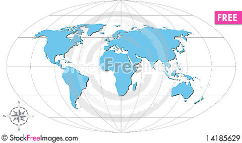 Free Map Royalty Free Stock Images - 14185629