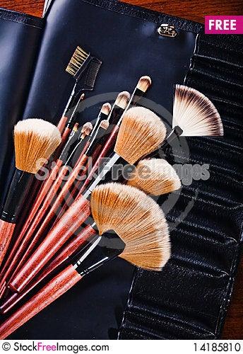 Free Set Of Brushes Stock Photo - 14185810