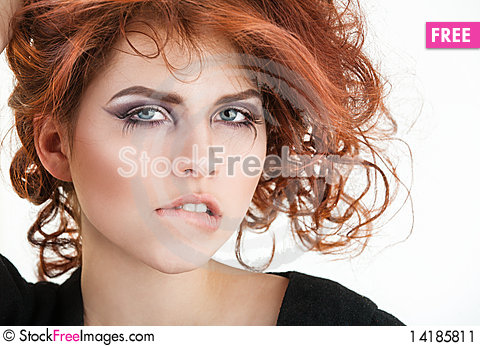 Free Young Pretty Girl Portrait Stock Image - 14185811