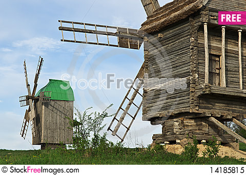 Free Old Windmills Royalty Free Stock Photo - 14185815